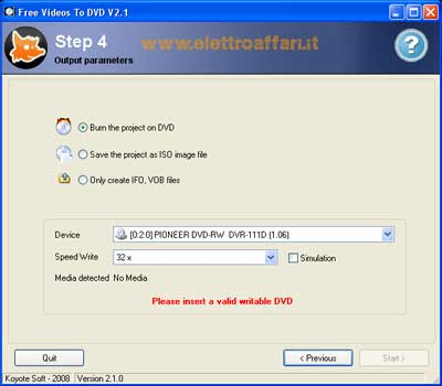 convertire file video in dvd