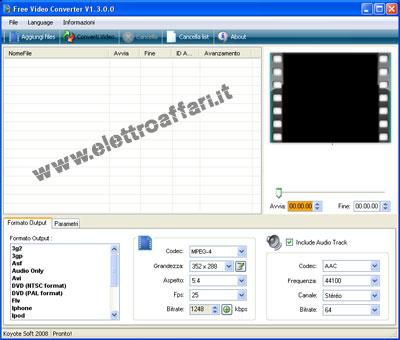 manipolazione file video