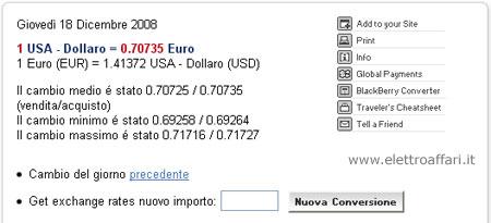 convertitore dollaro euro