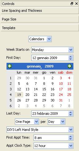 selezione del mese