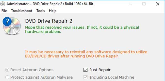 Software DVD Drive Repair
