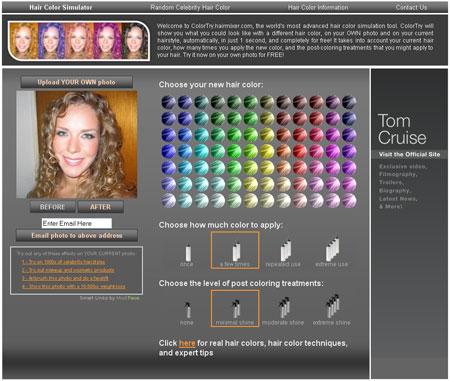 Provare il colore dei capelli su una tua foto