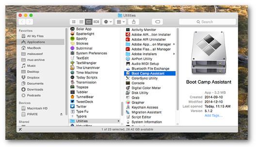 dual boot su mac
