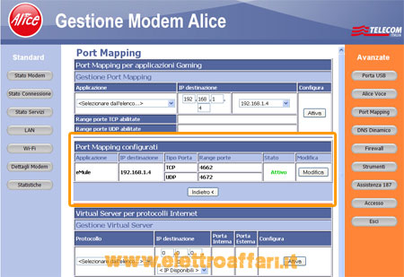 Aprire porta modem alice gate plus wifi yahoo answers - Porta server alice ...