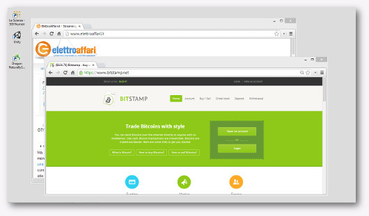 Schermata del sito Bitstamp