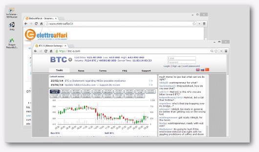 Schermata del sito BTC-E