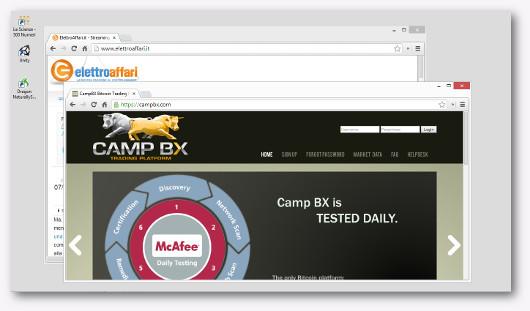 Schermata del sito CampBX