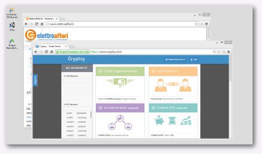 Schermata del sito Cryptsy