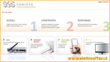 Sito per confronto tariffe ADSL e Internet Mobile