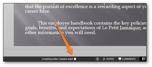 barra di avanzamento del video