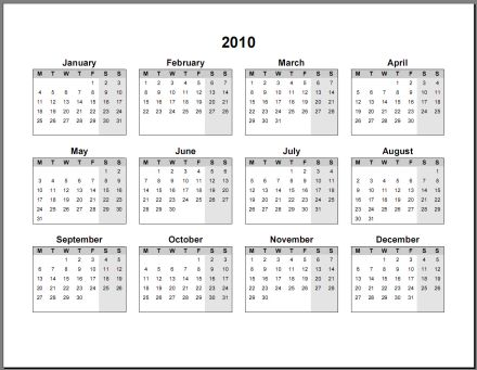 Calendario Anno 2018 Da Stampare.10 Calendari Annuali 2018 In Pdf E Word Da Stampare