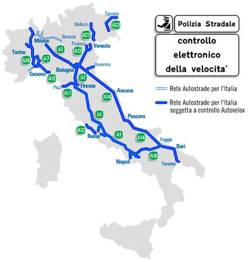Mappa Autovelox fissi