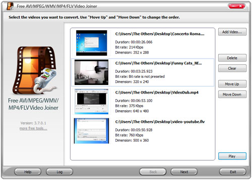 Programma per unire video