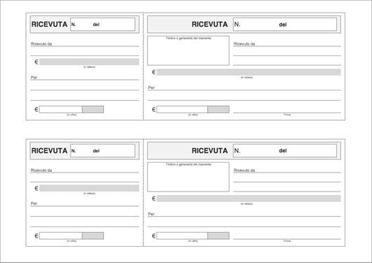 Modello ricevuta di pagamento gratis da stampare for Codice fiscale da stampare