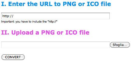 Procedimenti per convertire PNG in ICO e viceversa