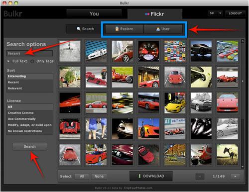 Come scaricare foto con la ricerca