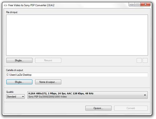 Convertire in MP4 per PSP