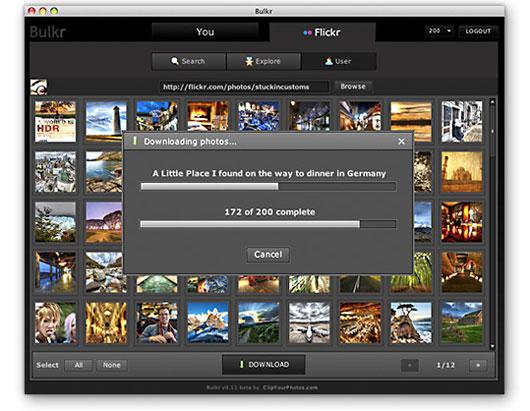 Programma per scaricare fotografie da Flickr