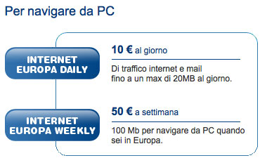Internet Key Tim per l'Estero