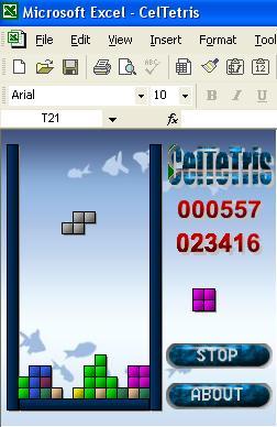 Gioco Tetris in Excel