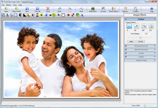 interfaccia del programma per foto edit