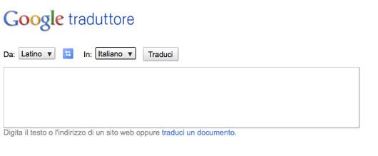 interfaccia di google translate