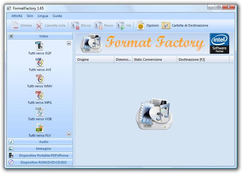 guida all'utilizzo di formatfactory