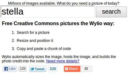 esempio ricerca immagini su Wylio
