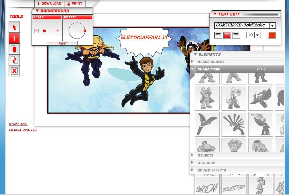 Creare fumetti online con i supereroi di marvel