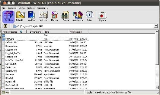 esempio compressione file