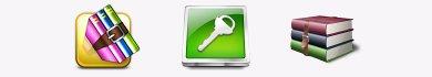 creare file rar con password