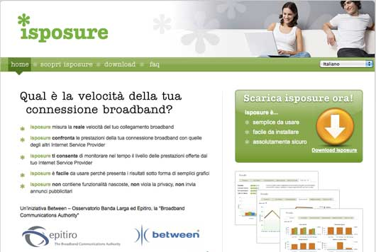 Ipsosure per il test dell'adsl