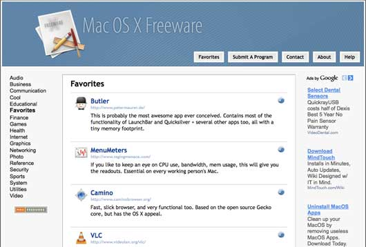 mac os x freeware