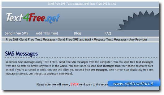 sms text for free