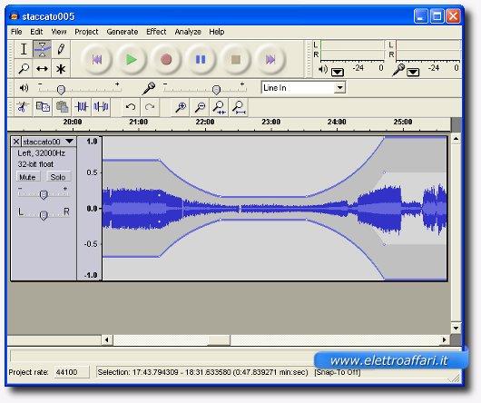 audacity per audio