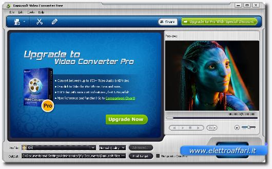 Programma per convertire video in avi, mp4, wmv e altro