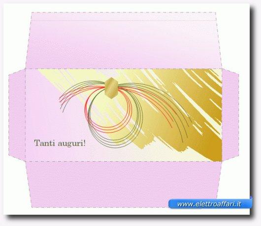 esempio di busta stampata
