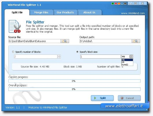 windmend file splitter
