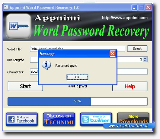 password rilevata