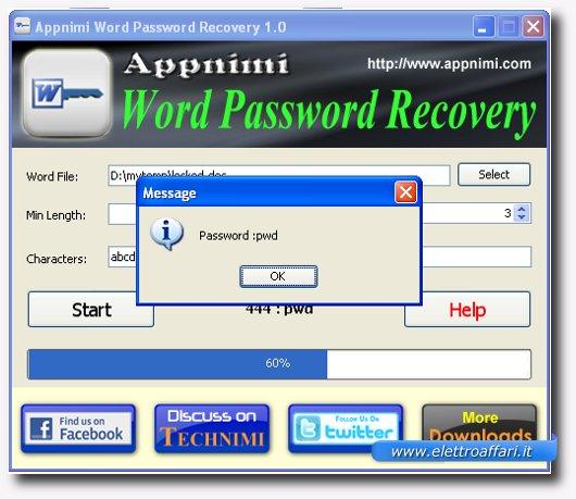 password rilevata
