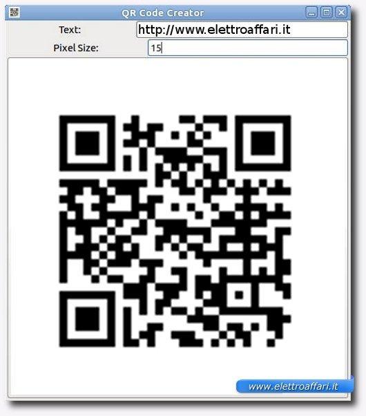 esempio creazione qr code