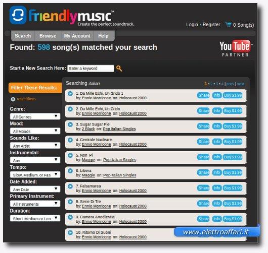 come cercare la musica