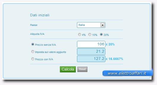 calkoo servizio online