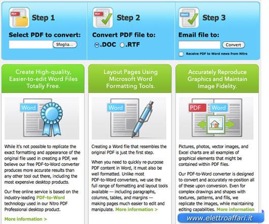 nitro to pdf word online