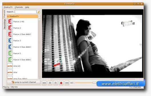 canali tv con linux