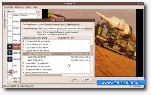 registrazione streaming su linux