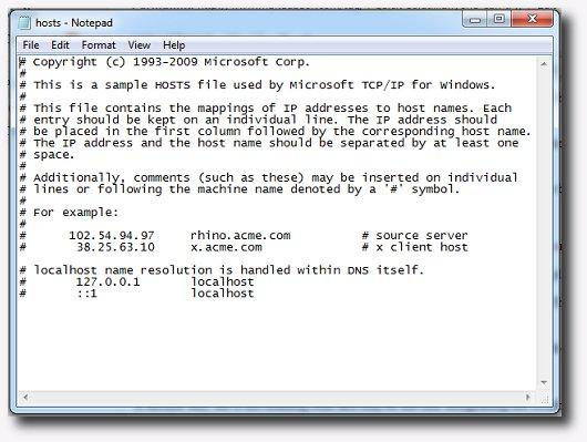 bloccarli tramite file host