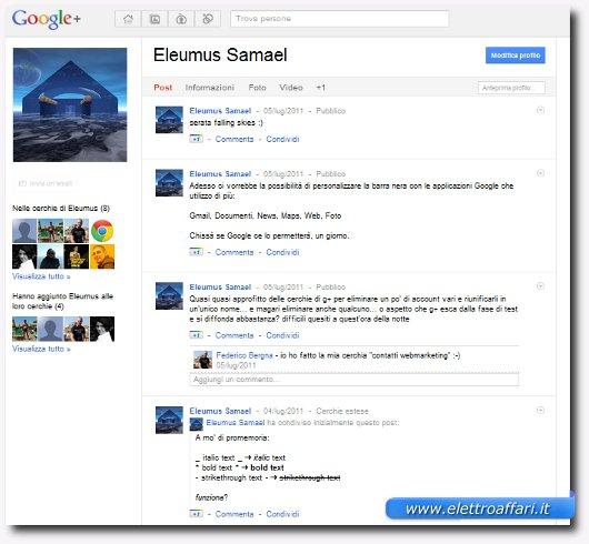 profilo di google plus