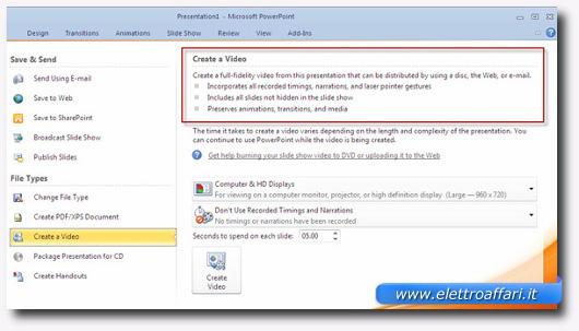 personalizzazione del video