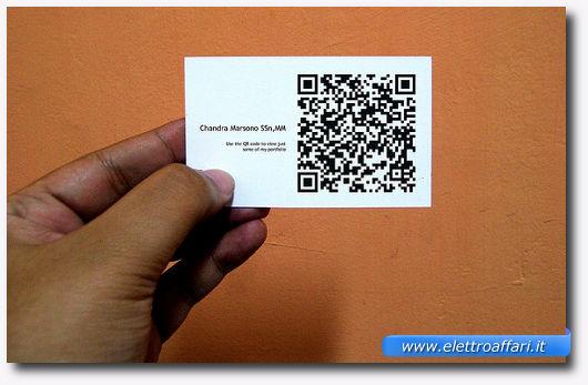 biglietti da visita tramite qr code